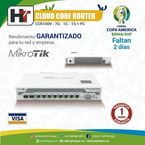 cloud core router ccr1009 - 7g - 1c -1s + pc