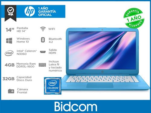 cloudbook net hp celeron n3060 4gb ssd 32gb 14 win10 bidcom