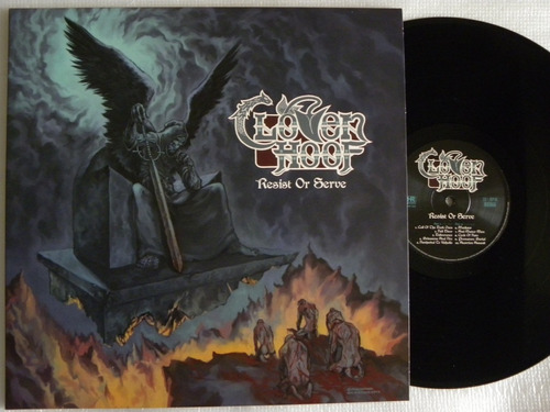 cloven hoof resist or serve lp iron maiden saxon manowar