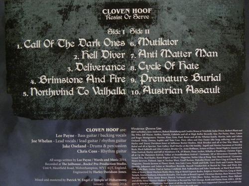 cloven hoof resist or serve lp iron maiden saxon manowar