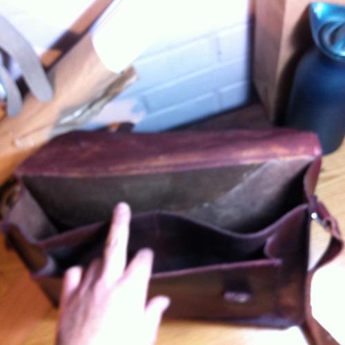 clover bolso maletin grande de cuero xl oficio