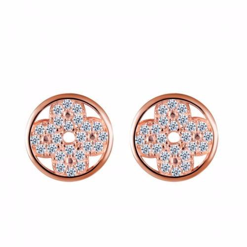 clover crystal earrings