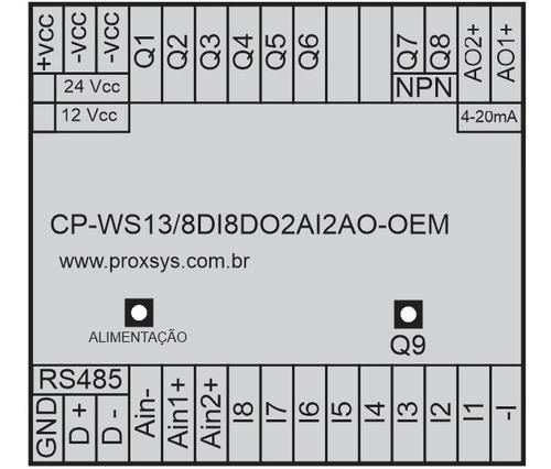 clp-cp-ws13/8di8do2ai2ao oem - usb motor passo q7 e q8 npn
