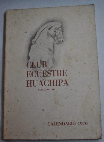 club ecuestre huachipa.  fundado en 1962