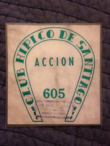 club hípico de santiago pase antiguo