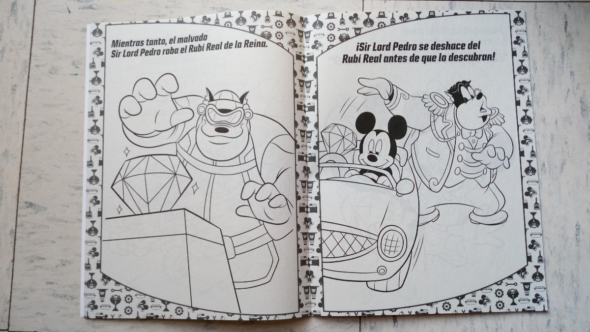 Club Mickey Mouse Paq 6 Libros Iluminar Colorear Disney Pixa ...