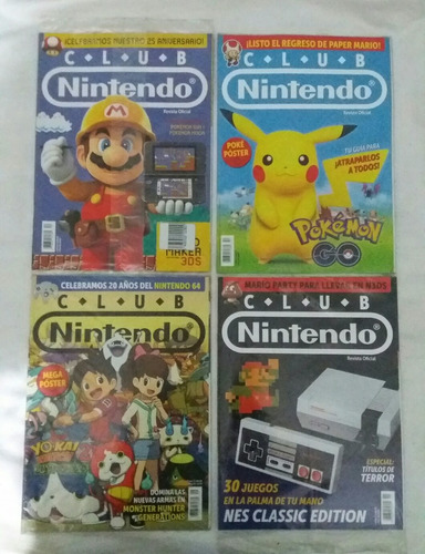 club nintendo mario bros pokemon revistas selladas