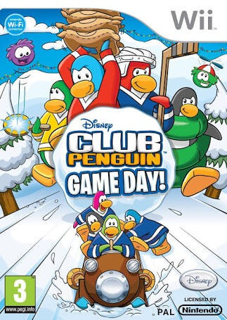 club penguin game day! wii