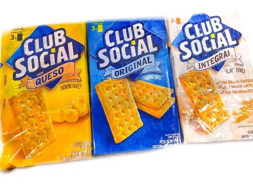 club social pack x 6 paquetes - barata la golosineria