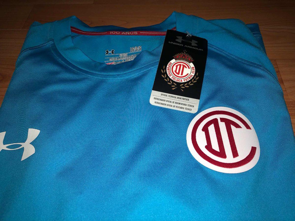 Jersey Original Club Toluca Manga Larga Portero Under Armour ... d8c5c48219205