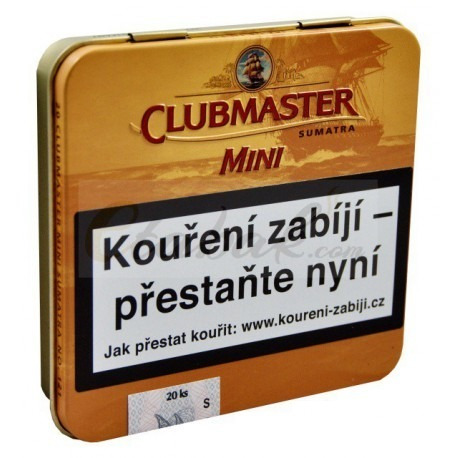clubmaster mini sumatra pack x5 latas cigarros puritos suave