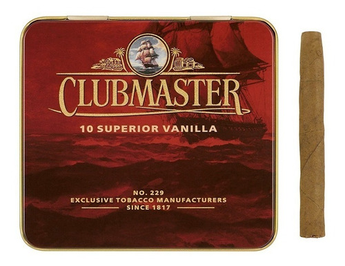 clubmaster superior cigarros vainilla tabaco pack x10