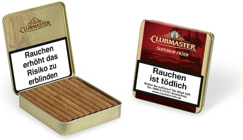 clubmaster superior vainilla filter pack x10 cigarros