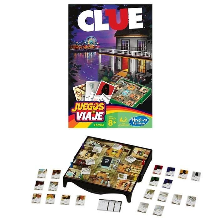 8f95d642bd050 Clue Juego De Detectives Serie Juegos De Viaje Orig Hasbro -   449 ...
