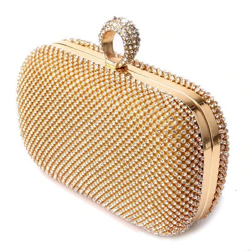 56be31885 Clutch Bag Bolsa De Mão Festa Strass Brilhante Madrinha - R$ 279,00 ...