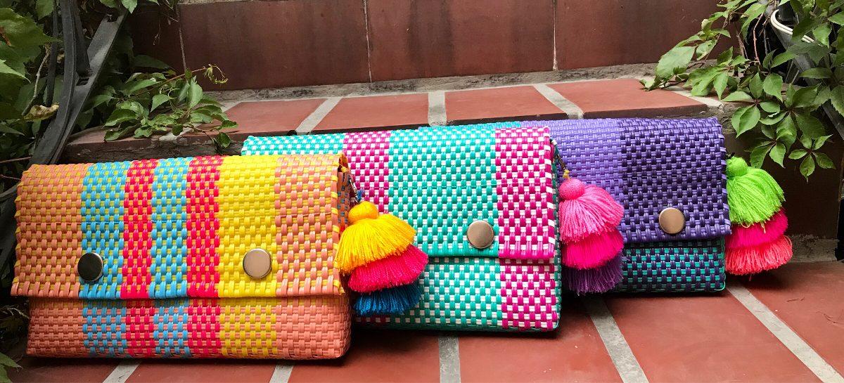 Clutch Bolsa De Mano Artesanal - $ 350.00 en Mercado Libre