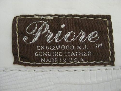 clutch grande  de piel priore vintage 1970