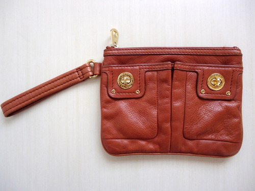 clutch marc by marc jacobs couro natural  (marrom)!!