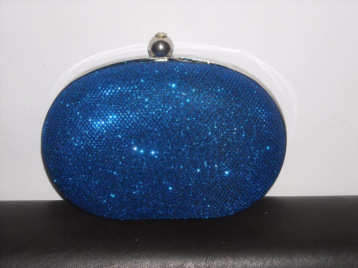 0dff15d19 Clutch Sobre De Fiesta En Azul Con Brillo - $ 499,00 en Mercado Libre