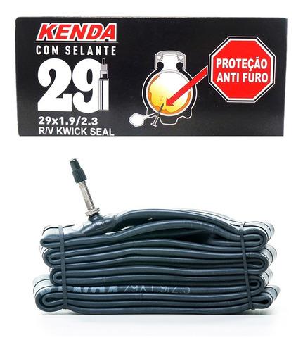 câmara ar bike mtb c/ selante kenda aro 29 1.9/2.3 presta