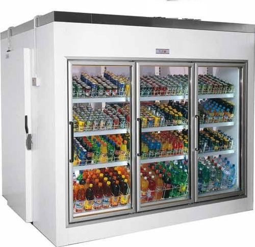 câmara expositora de bebidas walkin cooler equipamento móvel