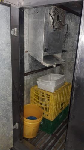 câmara fria para açougue de inox 3 portas