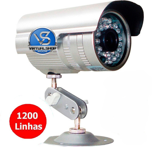 câmera 36 leds ccd cftv infravermelho 1200 linha prova água