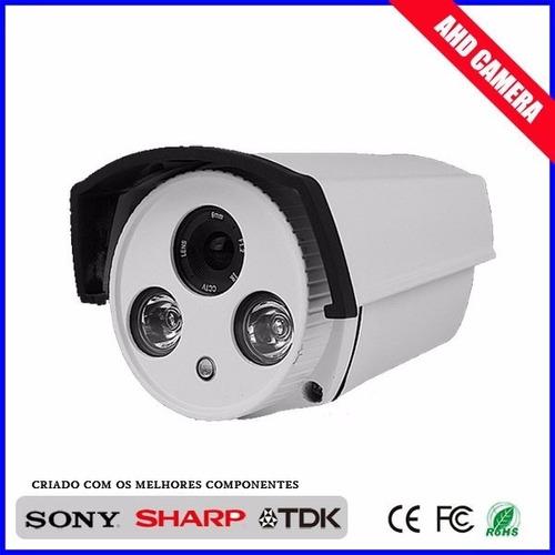 câmera 3.6mm ahd full hd  segurança 2 led array top