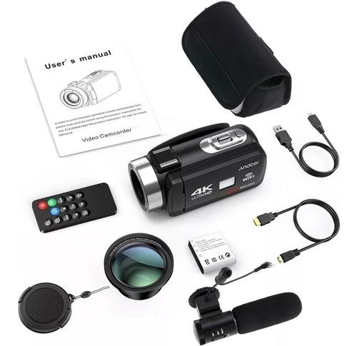 câmera 4k wifi vídeo digital microfone camcorder 30mp youtub