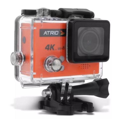 câmera ação atrio dc185 fullsport 4k tela lcd usb sd wifi