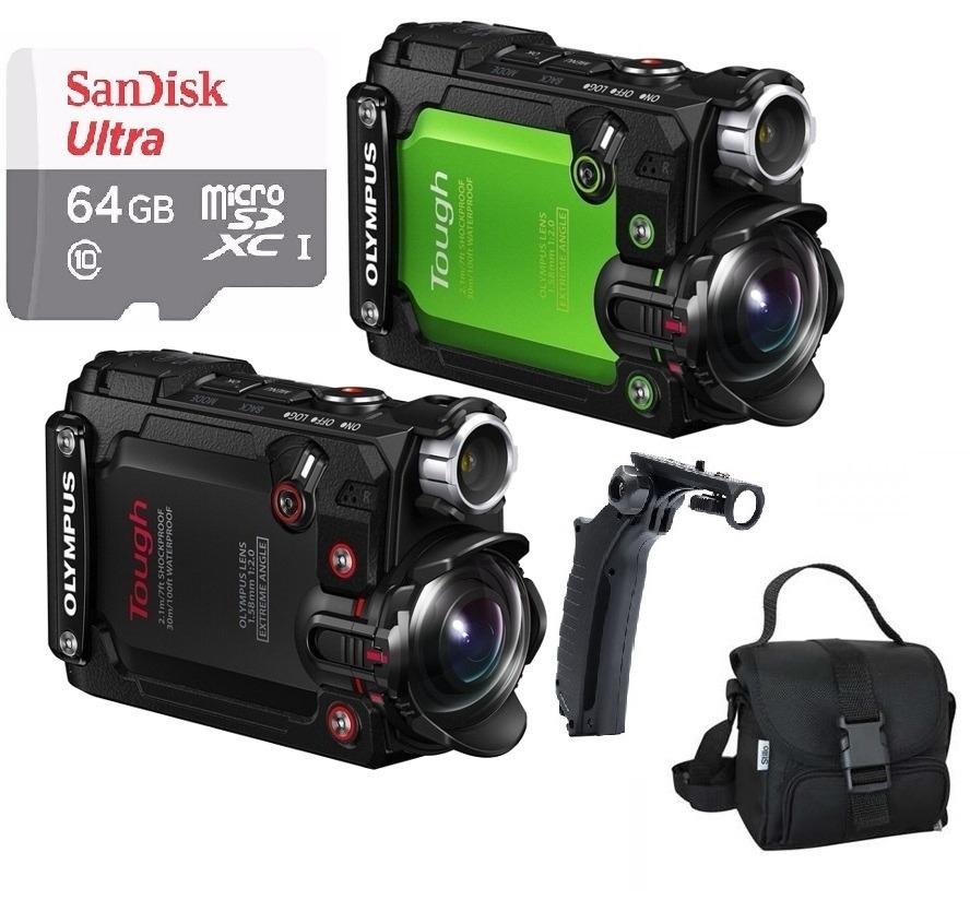 Câmera Ação Olympus Tg-tracker 4k Wifi Gps+bastão+bolsa+64gb