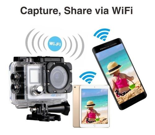 câmera action go cam pro sport wifi full hd prova dágua
