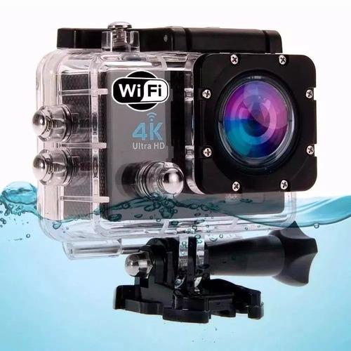 câmera action go cam pro ultra 4k sport wi-fi hd prova dágua
