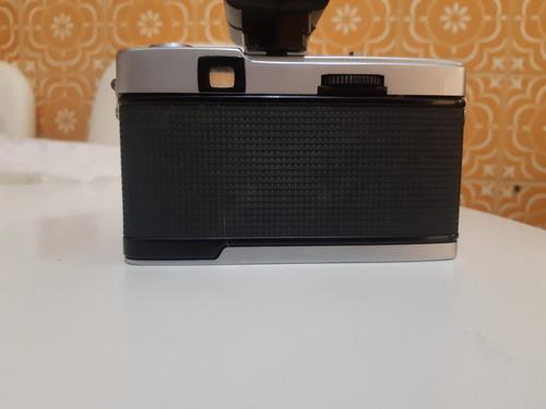 câmera analógica máquina fotográfica olympus trip 35 + flash