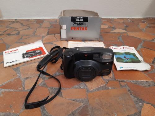 câmera analógica máquina fotográfica pentax zoom 105r caixa