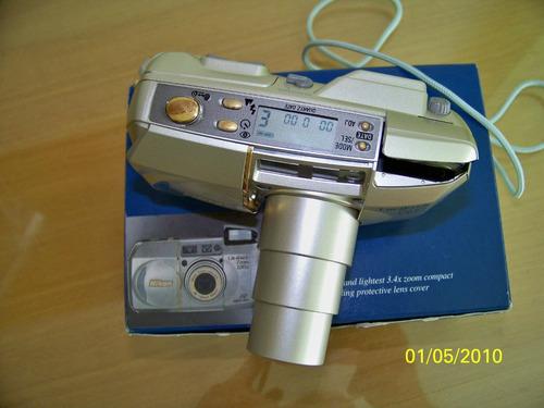 câmera analógica nikkon modelo 130ed-qd-zoom 130