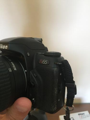câmera analógica nikon n65 + lente 28-80