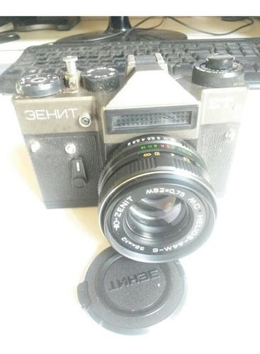 câmera analógica zenith lente 58 mm urss modelo raro