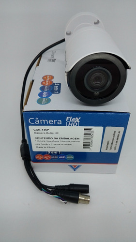 câmera bullet 1mega 3,6mm tvi/cvi/ahd ccb-136p tecvoz