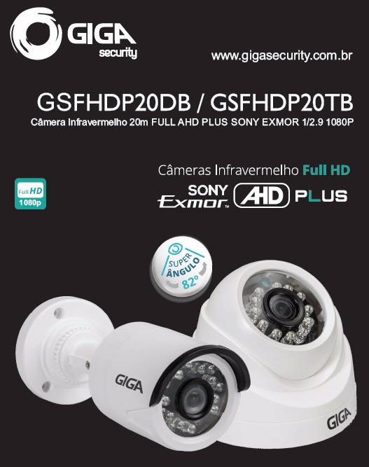 e60fa235e296a Câmera Bullet Full Ahd Sony Exmor 2mp - Gsfhdp20tb Giga - R  139 ...