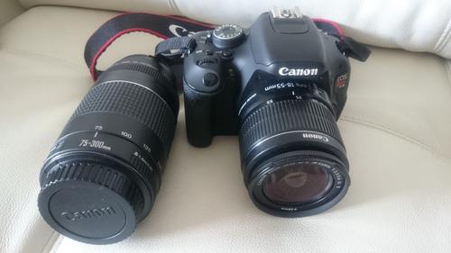 câmera canom rebel t3i c/ lente adicional objetiva 75x300