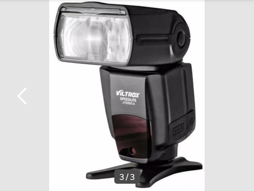 câmera canon 600d + flash externo viltrox