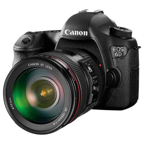 câmera canon 6d ef 24-105mm, 20.2mp, full hd, wi-fi, gps