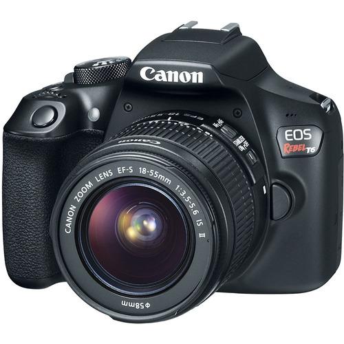 câmera canon dslr eos rebel t6 com lente 18-55mm