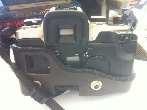 câmera canon eos 55 analógica objetiva 28-80 mm