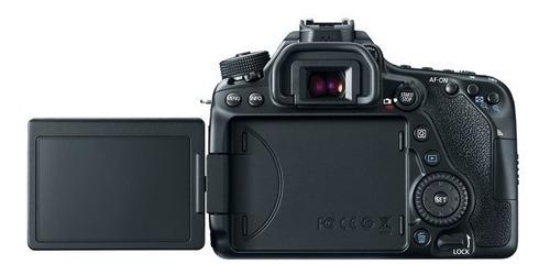 câmera canon eos 80d corpo + sd 32gb + case + tripé +  nfe