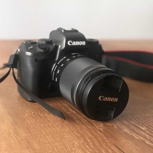 câmera canon eos m5 (superior a m50) + lente 18-150+ bateria