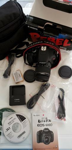 câmera canon eos rebel t3i + cartão 32gb + bolsa