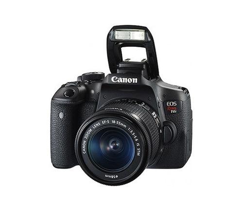 câmera canon eos rebel t6i com lente 18-55mm + brindes