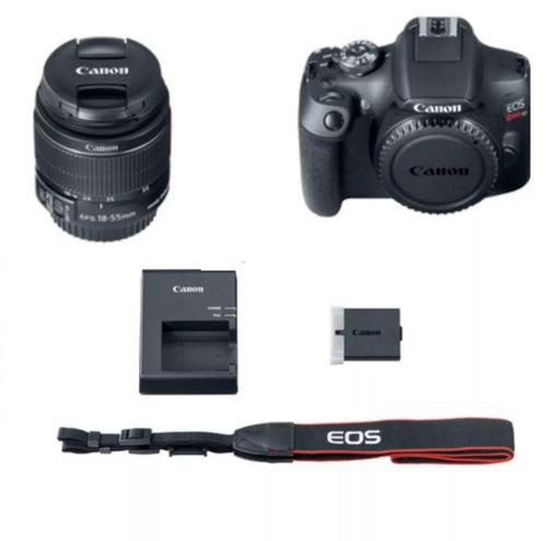 câmera canon eos rebel t7c/lente18-55mm+32gb +tripe+bolsa